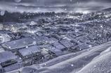 白い街並み