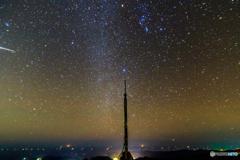 オリオン座流星群ちらり