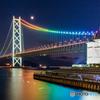 月夜の虹色海峡