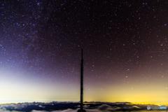 オリオン座流星群と雲海