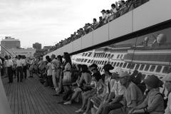 客船出航風景