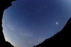 地上の流れ星
