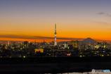 富士山と二塔