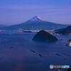 どんど焼きと富士山