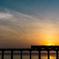 夕陽と海に癒されて