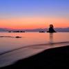 サーモンピンクの海