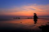 朝焼けの雨晴海岸1