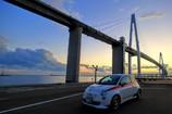 新湊大橋とFIAT500