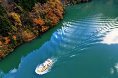 庄川峡の秋