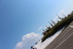 青い空 白い雪