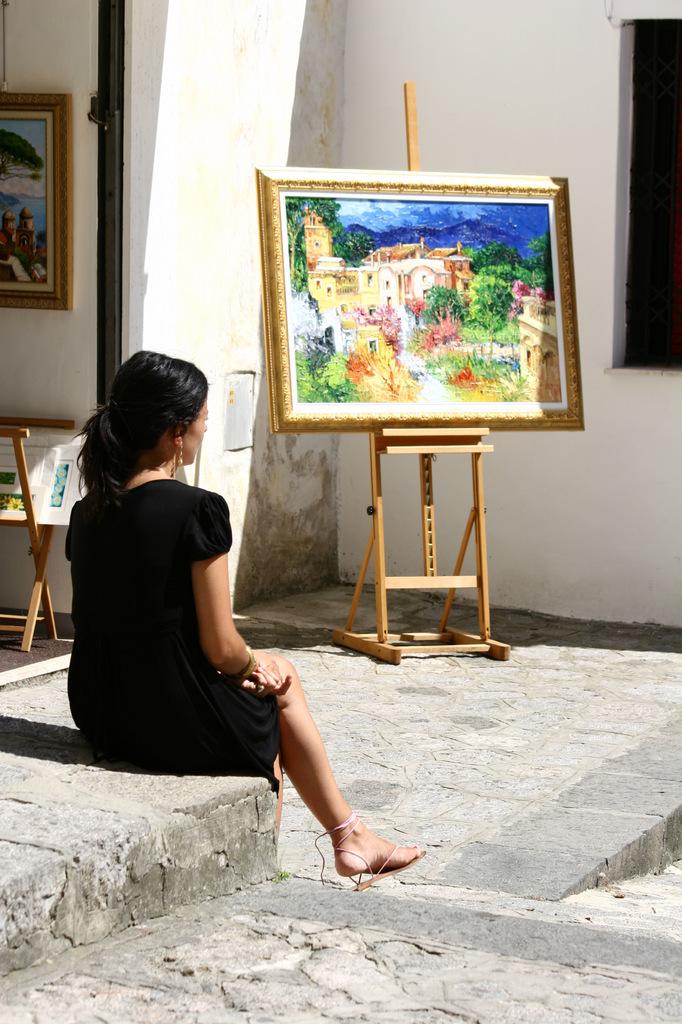 美女と絵画