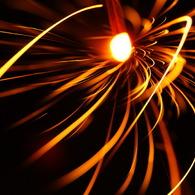 SONY DSLR-A200で撮影した風景(炎のリボン)の写真(画像)
