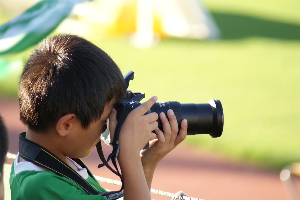 かわいいカメラマン