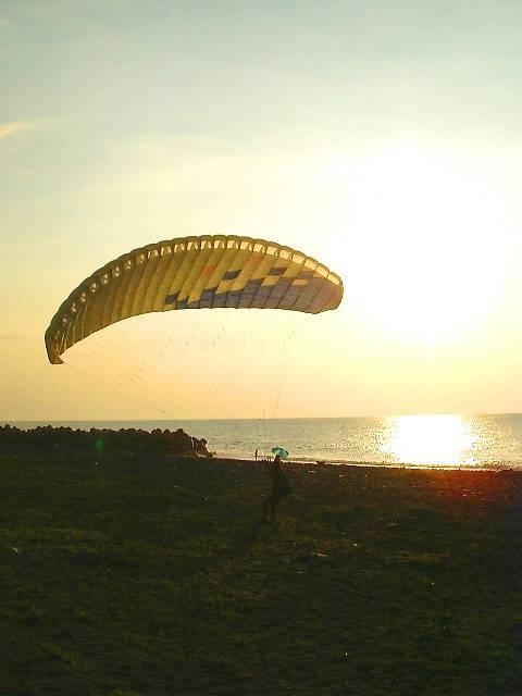海風で練習