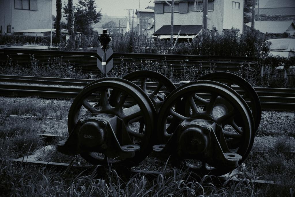 使われなくなった車輪