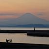江ノ島から見る富士
