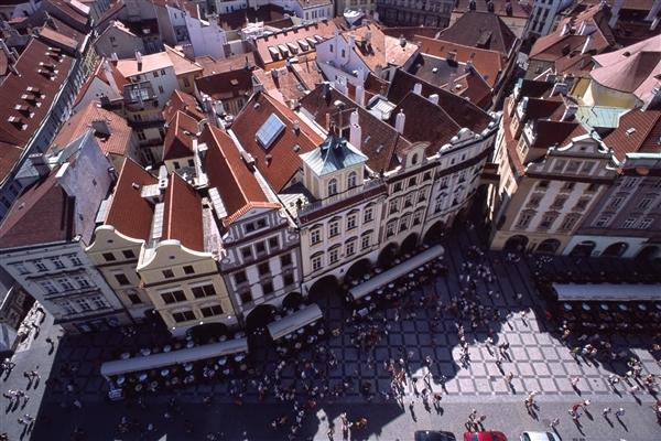 プラハ旧市庁舎からの眺め