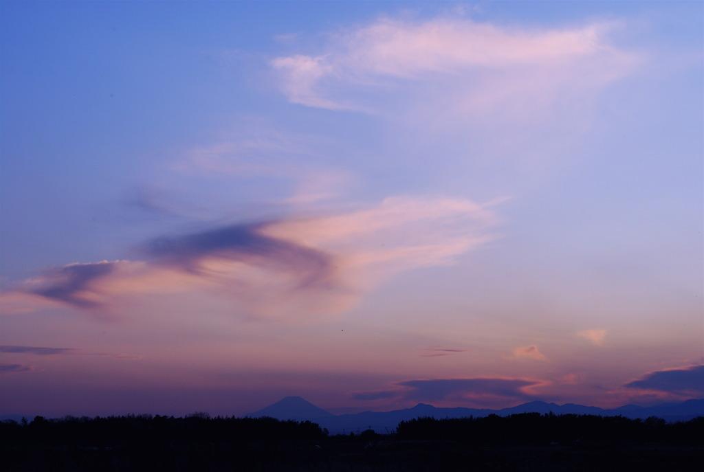 埼玉から富士を望む