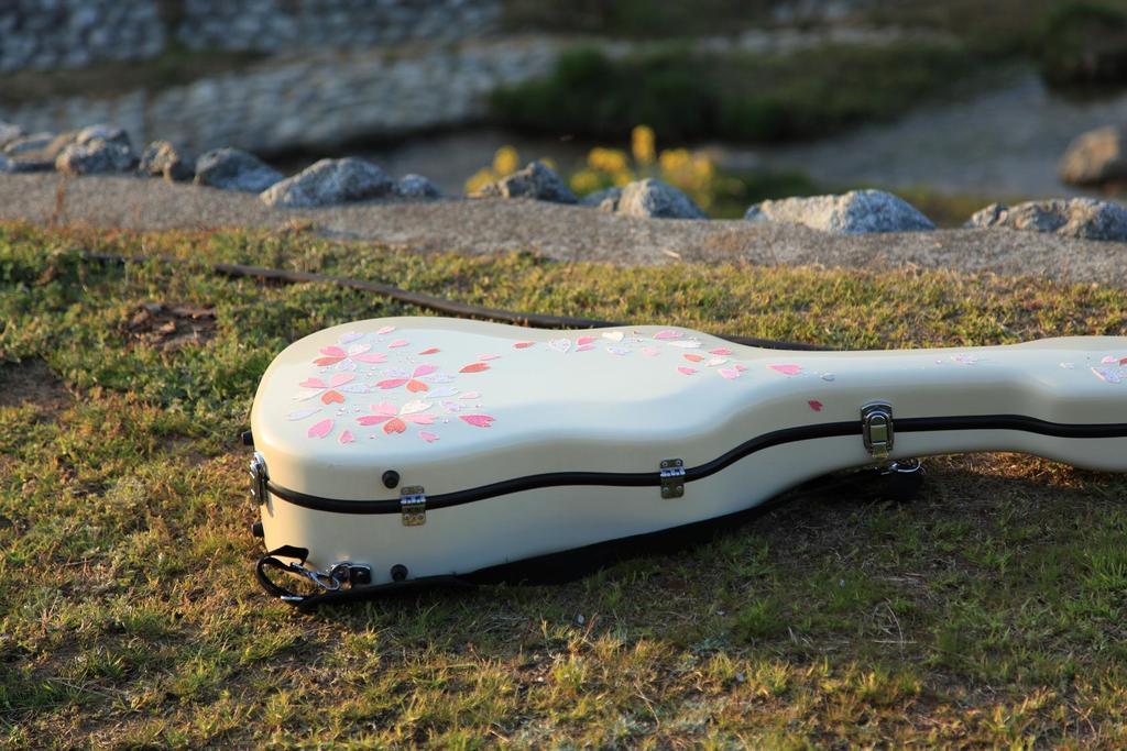 桜模様なっちゃんのギターケース