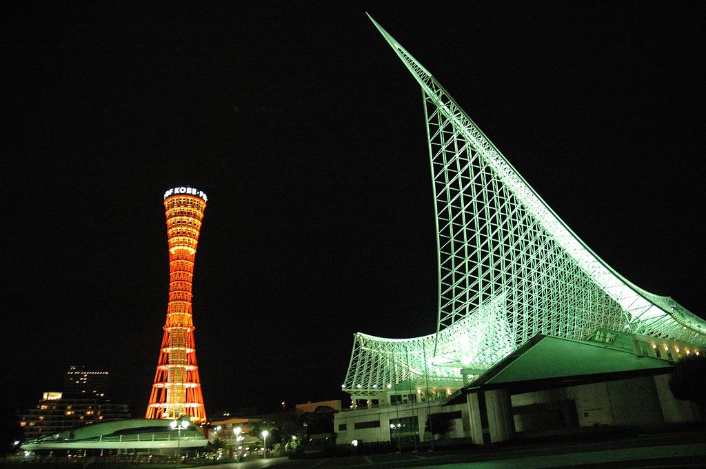 ポートタワーの夜