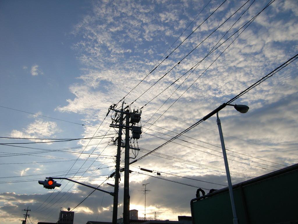 夕焼け空と