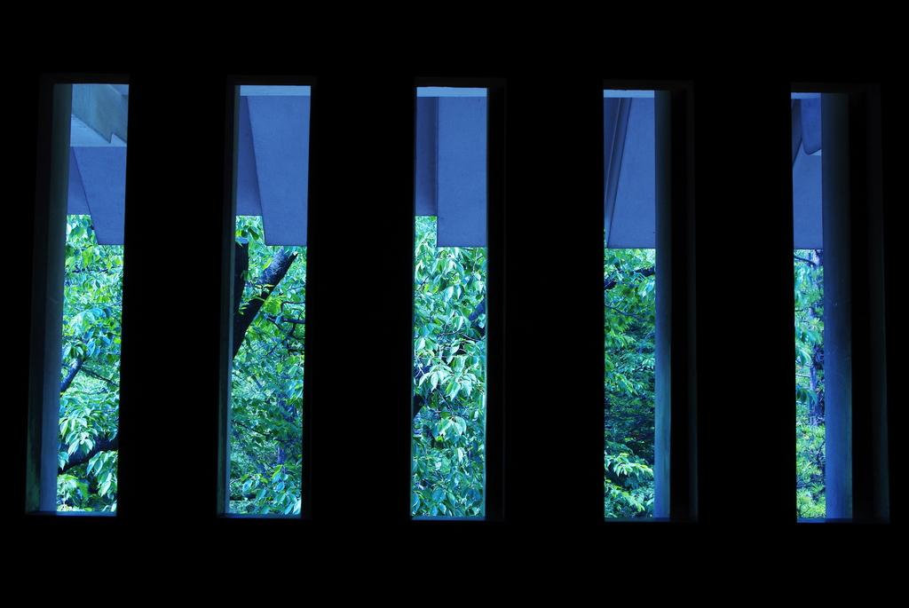 松本城 塗籠縦格子窓