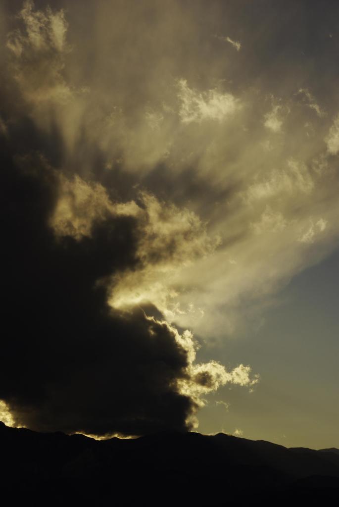 秩父の空 雲の影