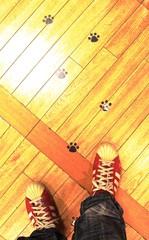 足元の足跡