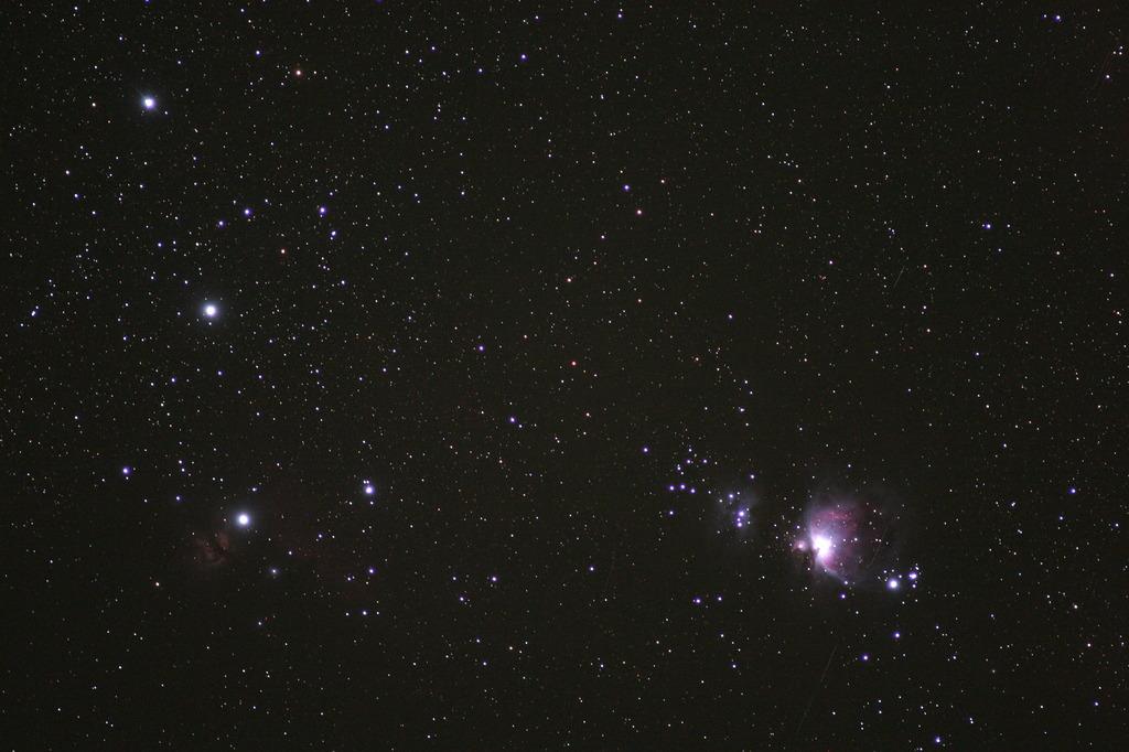 オリオン座と大星雲