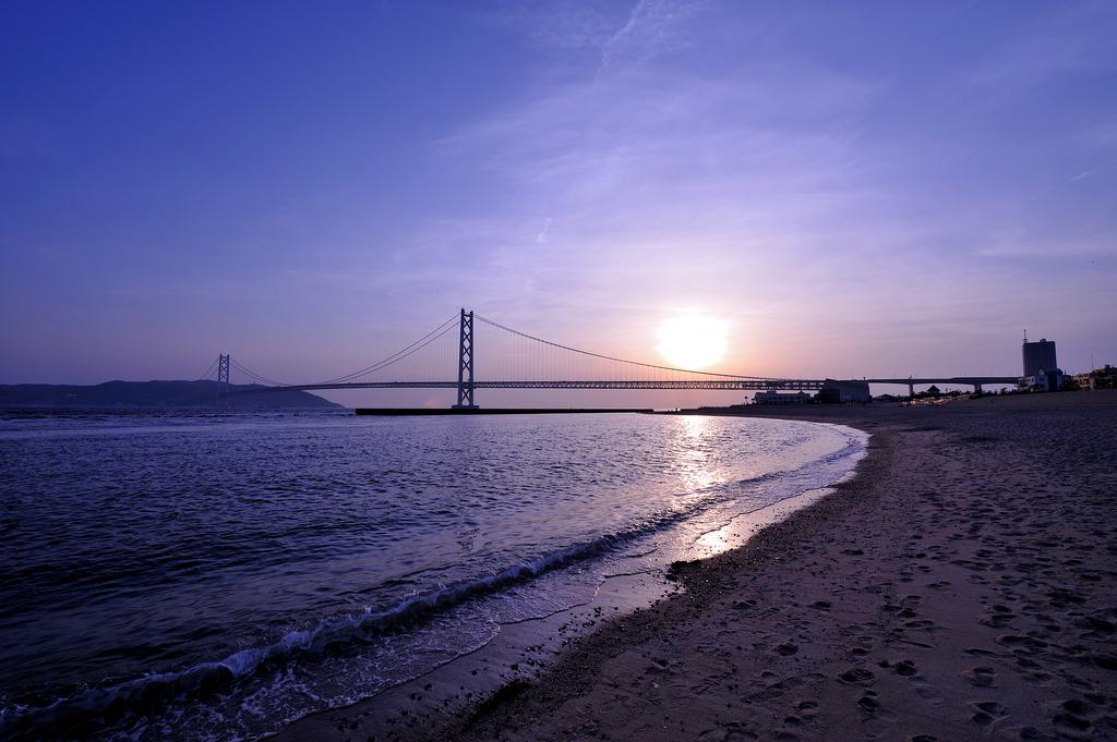明石海峡大橋(夕陽)