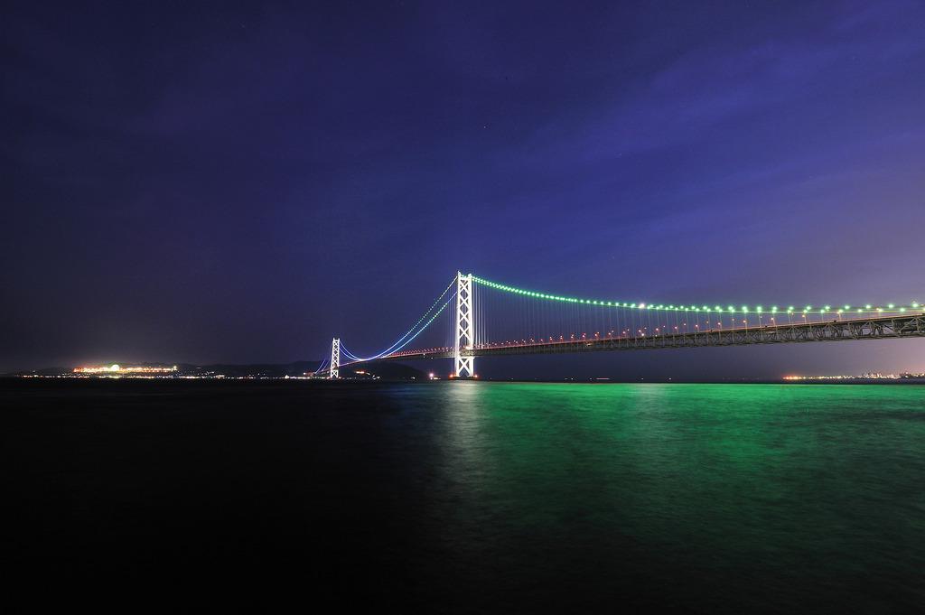 明石海峡大橋(夜景)