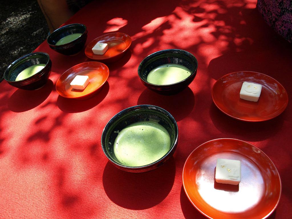 抹茶と落雁(京都)