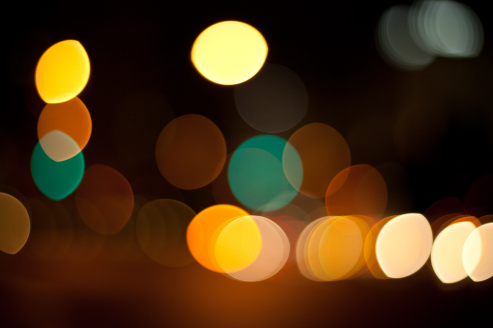 bokeh in traffic