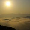 朝日を浴びる雲海