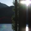 四尾連湖の朝日