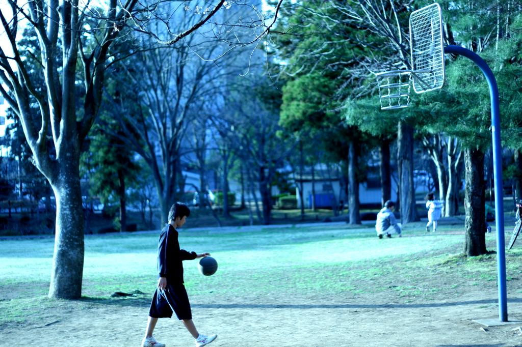 バスケ練習中