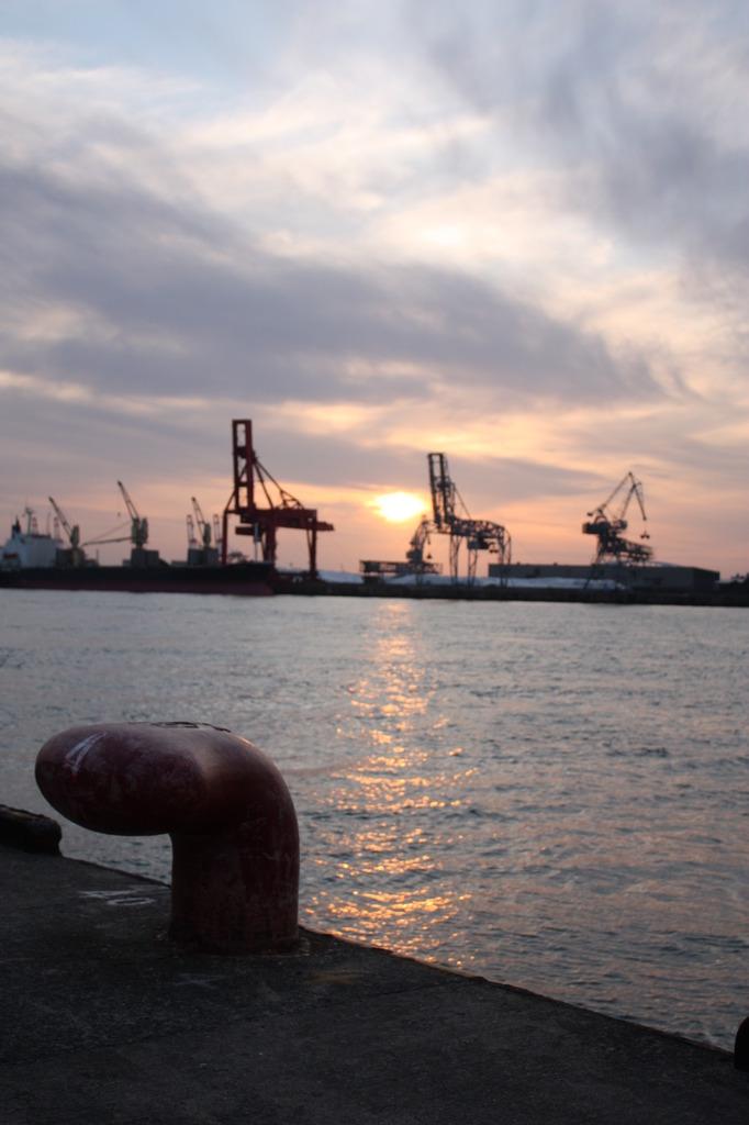 夕日・大阪湾