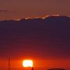 淀川の夕日