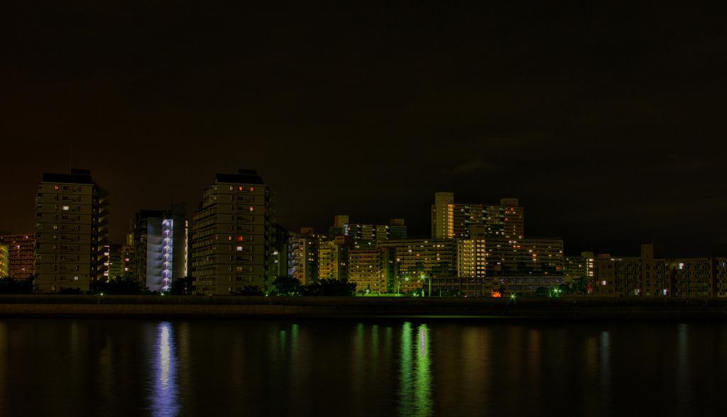 団地の夜景