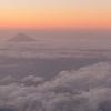 夕日に映える富士