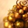 金色のクリスマスっぽい飾り?