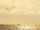 黄昏れの海