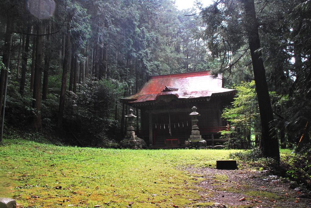 夏の日の神社