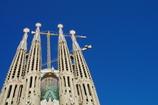 Sagrada Familia with blue sky