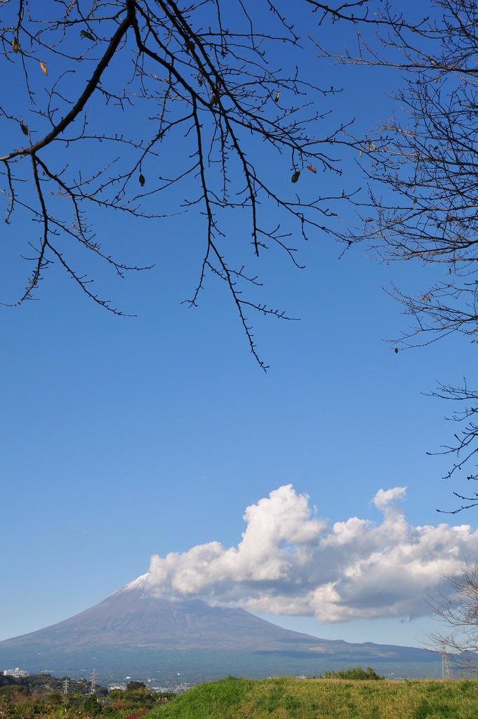 雲、邪魔~。