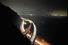 夜霧の薩捶峠