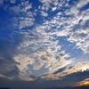 夕方の夏の空