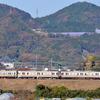 東海道線で長閑な風景を