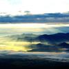 晩秋の赤岳より秩父連山を望む