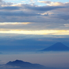 晩秋の赤岳より富士を望む
